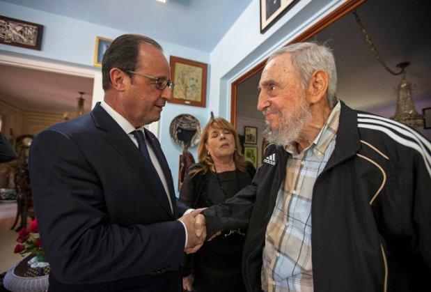 اولاند به دیدار فیدل کاسترو رفت