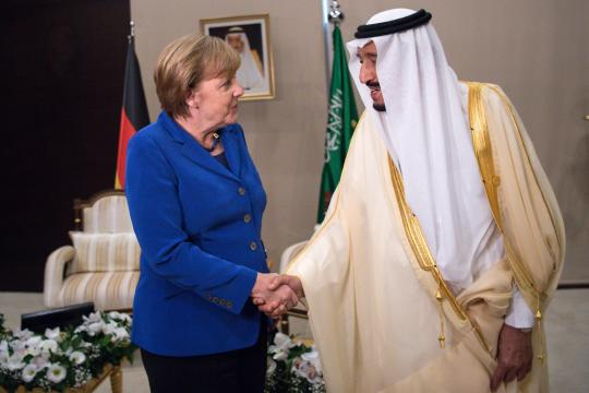 G20-Gipfelمرکل و پادشاه عربستان