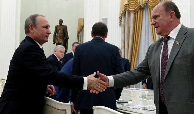86112پوتین و رهبر حزب کمونیست روسیه